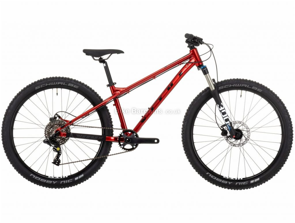 """Vitus Nucleus 26 Youth Alloy Hardtail Mountain Bike 2021 M, Red, Silver, Alloy Frame, 26"""" wheels, 8 Speed, Disc Brakes, Single Chainring, Hardtail, Suspension, 12.37kg"""