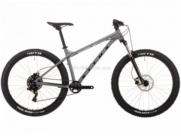 "Vitus Nucleus 27 VR Alloy Hardtail Mountain Bike 2021 L, Grey, Alloy Frame, 27.5"" Wheels, Disc Brakes, 8 Speed, Single Chainring, Hardtail, Suspension Forks"