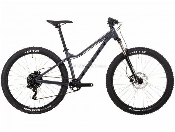 """Vitus Nucleus 27 VRW Ladies Alloy Hardtail Mountain Bike 2021 XS, Grey, Alloy Frame, 27.5"""" Wheels, Disc Brakes, 8 Speed, Single Chainring, Hardtail, Suspension Forks"""