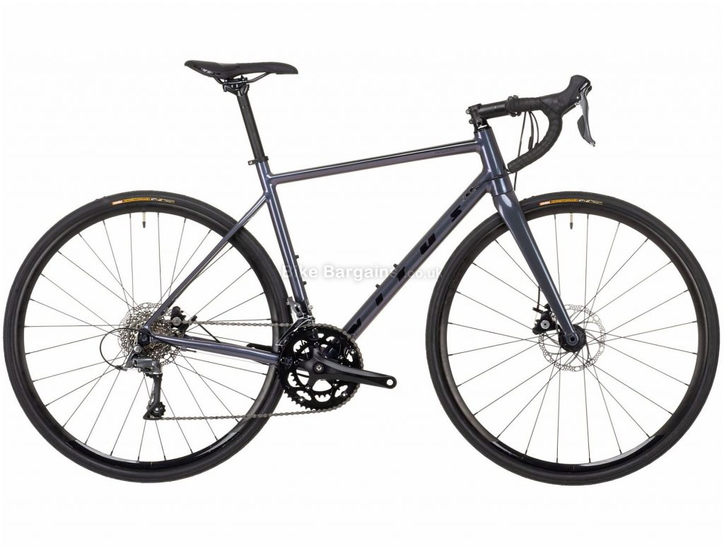 Vitus Razor W Claris Disc Ladies Alloy Road Bike 2021 XS,M, Grey, Alloy Frame, 700c Wheels, Disc Brakes, 16 Speed, Double Chainring