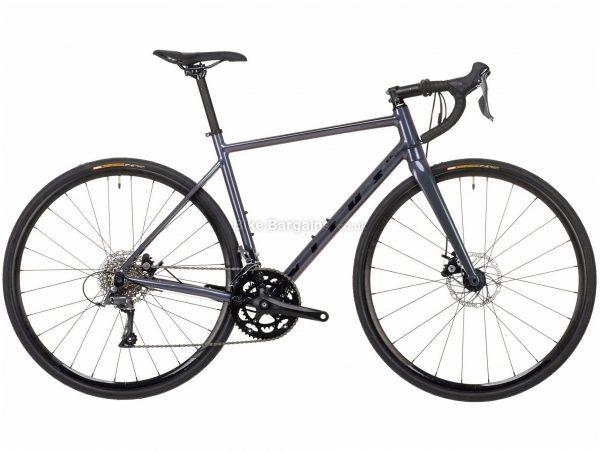 Vitus Razor W Claris Disc Ladies Alloy Road Bike 2021 S, Grey, Alloy Frame, 700c Wheels, Disc Brakes, 16 Speed, Double Chainring