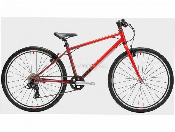 "Wild Bikes Kids Wild 26 Alloy Bike M, Red, Brown, Alloy Frame, 26"" wheels, 6 Speed, Caliper Brakes, Single Chainring, Rigid, 7.6kg"
