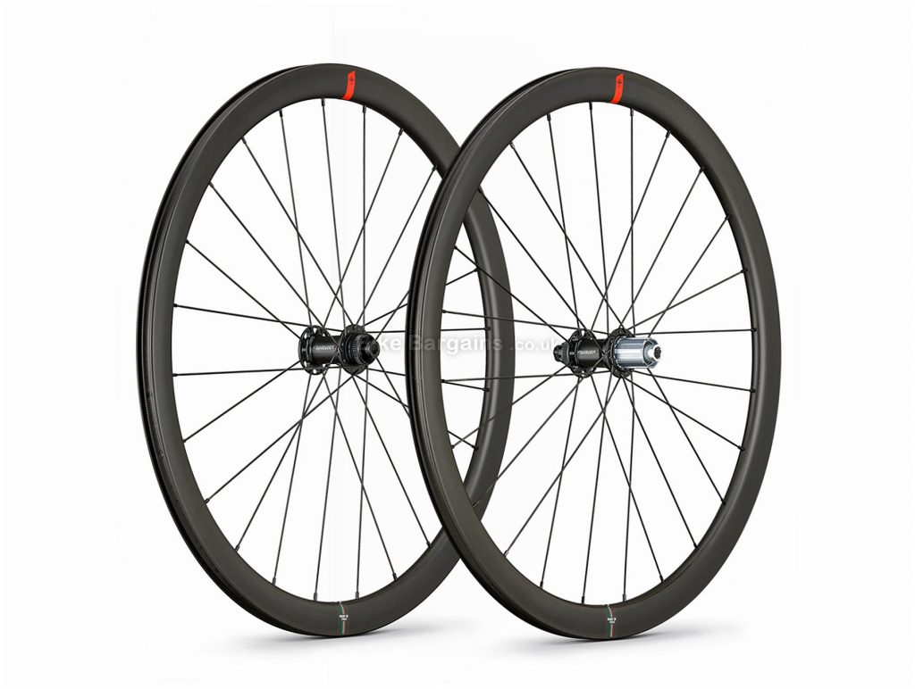 Wilier NDR36 KC Disc Carbon Clincher Road Wheels 700c, Disc, Carbon, 10/11 Speed, Black, 12mm, 142mm, Front & Rear, 1.66kg