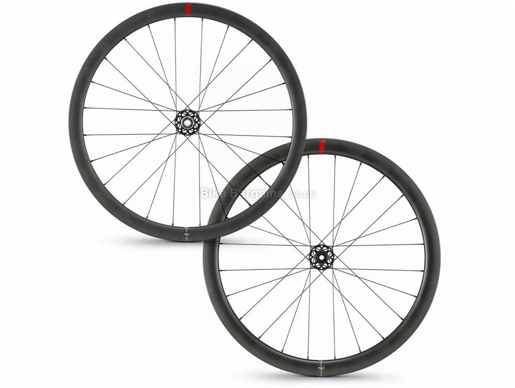 Wilier SLR42 KC Disc Carbon Clincher Road Wheels 700c, Black, Front & Rear, Shimano, Campagnolo, Disc, 1.531kg, Carbon Rims
