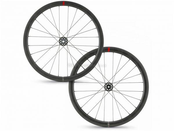 Wilier SLR42 KC Disc Carbon Clincher Road Wheels 700c, Black, Front & Rear, Shimano, Disc, 1.531kg, Carbon Rims