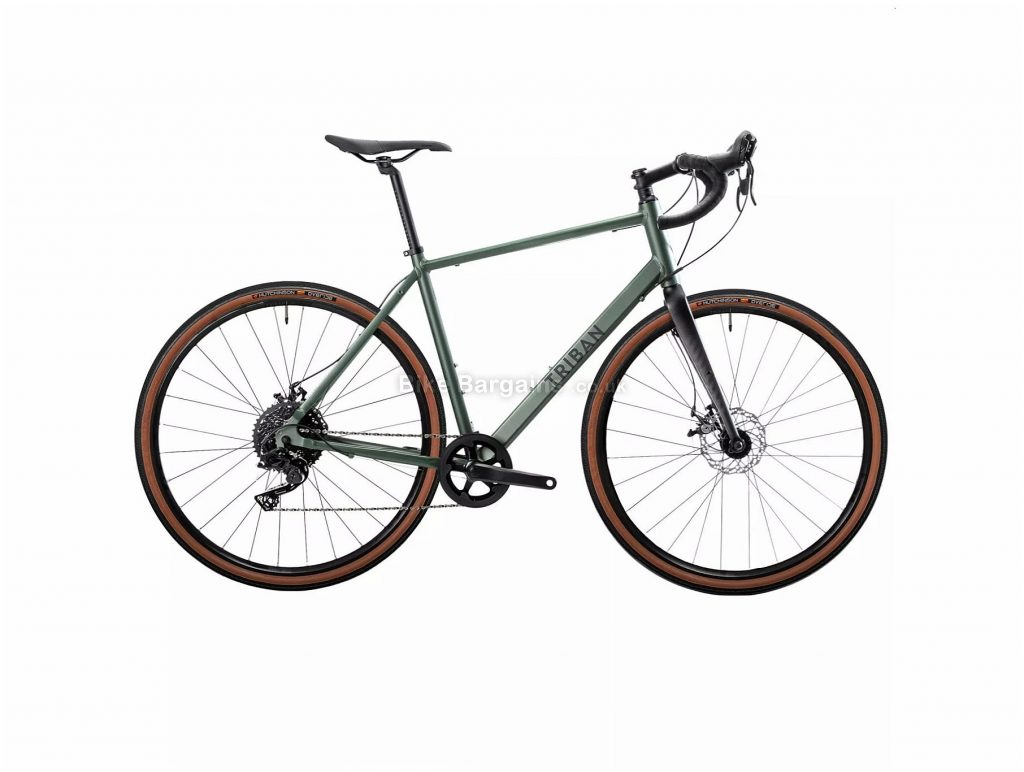 B'Twin Triban RC 120 Disc Alloy Gravel Bike M, Green, Black, Alloy Frame, 10 Speed, 700c Wheels, 10.9kg, Disc, Single Chainring