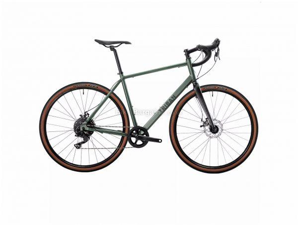 B'Twin Triban RC 120 Disc Alloy Gravel Bike M, Green, Black, Alloy Frame, 10 Speed, 700c Wheels, 10.9kg, Disc, Single Chainring