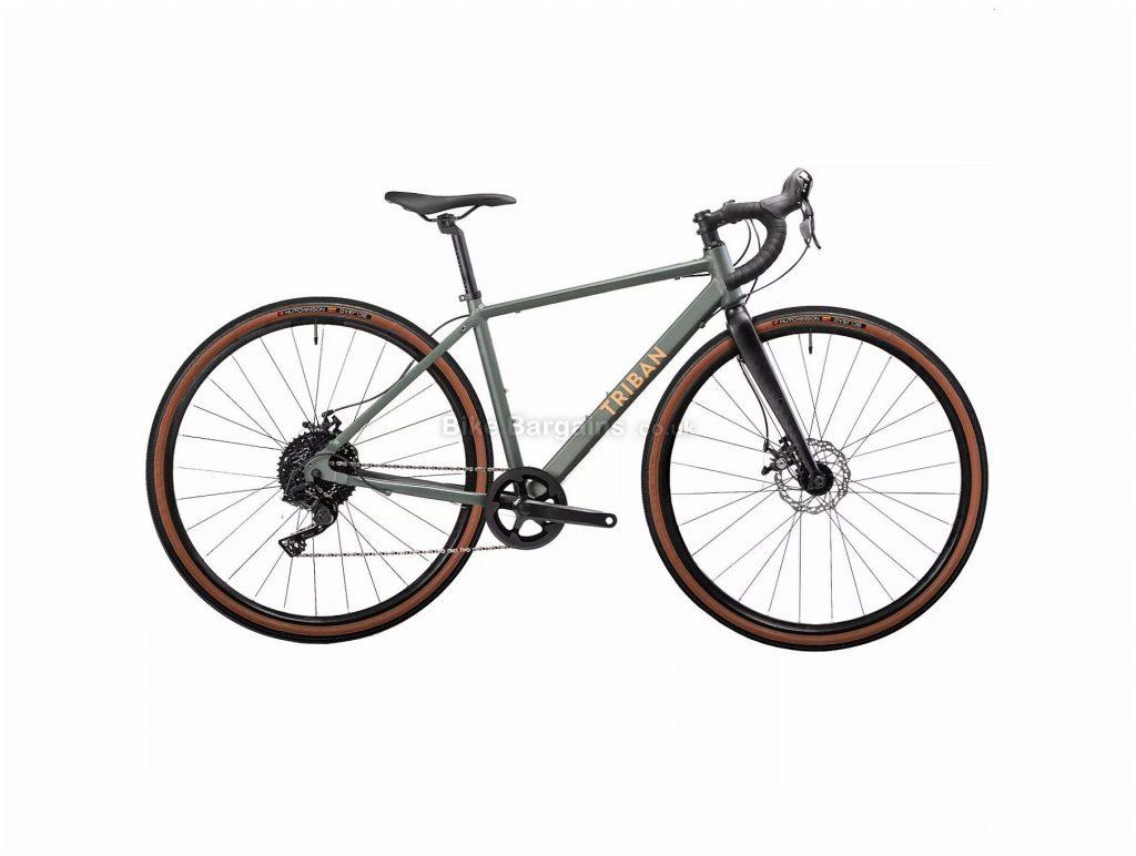 B'Twin Triban RC 120 Ladies Disc Alloy Gravel Bike XS,S, Green, Black, Alloy Frame, 10 Speed, 700c Wheels, 10.7kg, Disc, Single Chainring