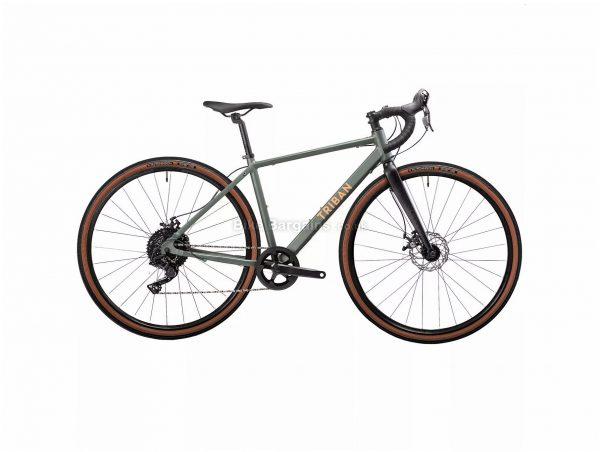 B'Twin Triban RC 120 Ladies Disc Alloy Gravel Bike XS, Green, Black, Alloy Frame, 10 Speed, 700c Wheels, 10.7kg, Disc, Single Chainring