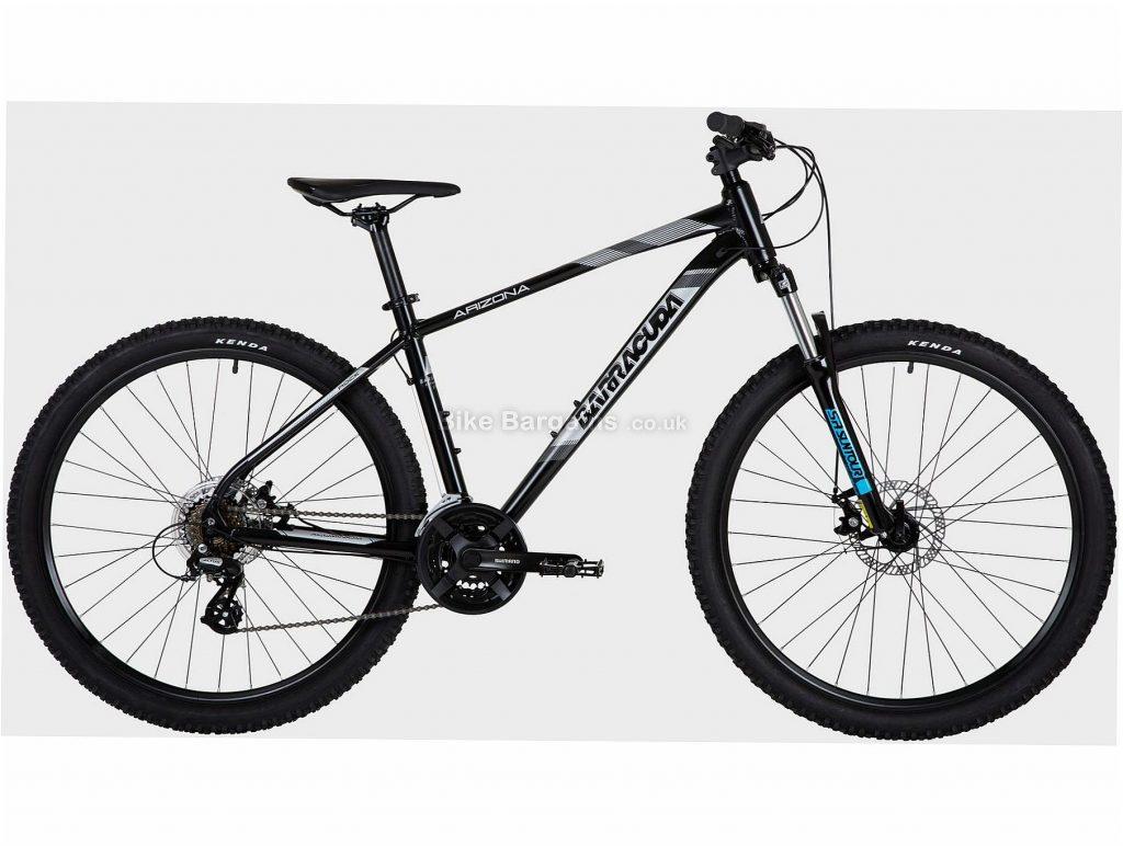 "Barracuda Arizona 18"" Alloy Hardtail Mountain Bike M, White, Green, Alloy Frame, 21 Speed, 27.5"" Wheels, Disc, Triple Chainring, Hardtail Frame, Front Suspension"