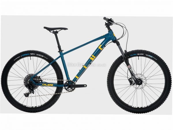 """Calibre Line 10 Alloy Hardtail Mountain Bike L, Turquoise, Yellow, Black, Alloy Frame, 11 Speed, 27.5"""" Wheels, Disc, Single Chainring, Hardtail Frame, Front Suspension"""