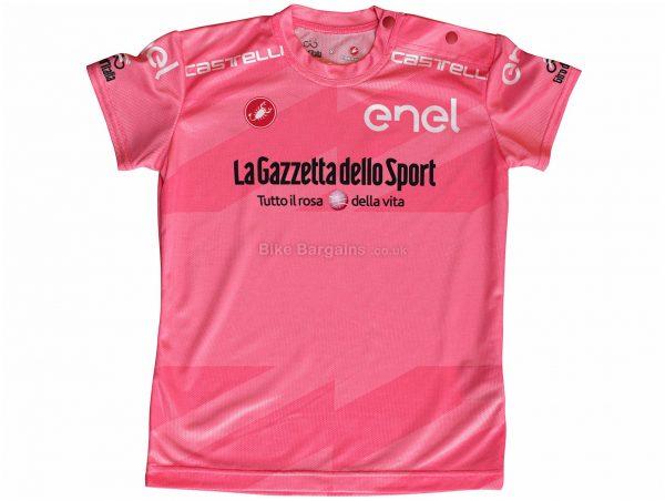 Castelli Giro 103 Infant Short Sleeve Jersey S, Pink, Kids, Short Sleeve, Polyester