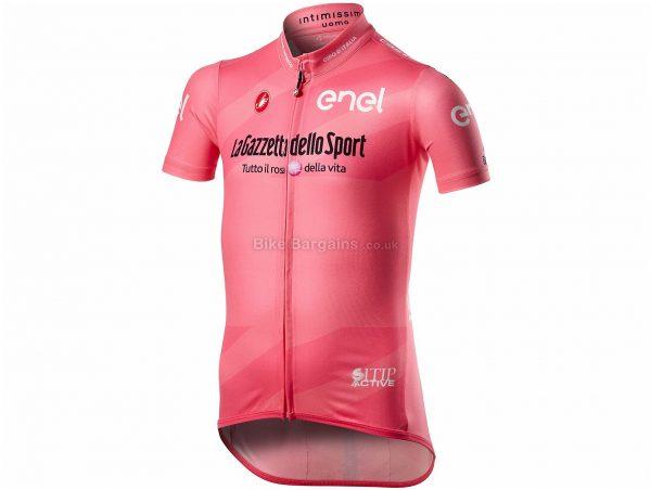 Castelli Kid's Giro 103 Short Sleeve Jersey 6, Pink, Kids, Short Sleeve, Polyester