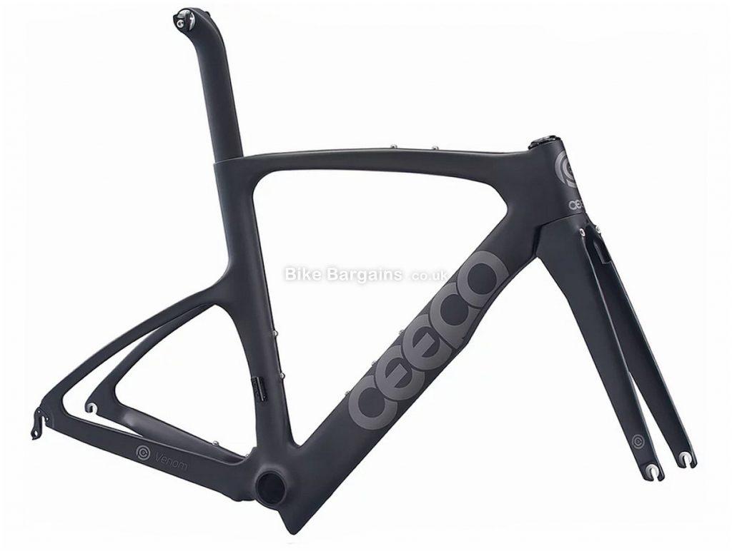 Ceepo Venom Carbon Triathlon Frame M, Black, Grey, 700c, Carbon Frame, Caliper Brakes