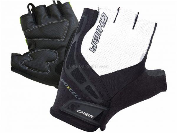 Chiba Bio-X-Cell Mitts S,XXL, Black, White, Short Finger Gloves