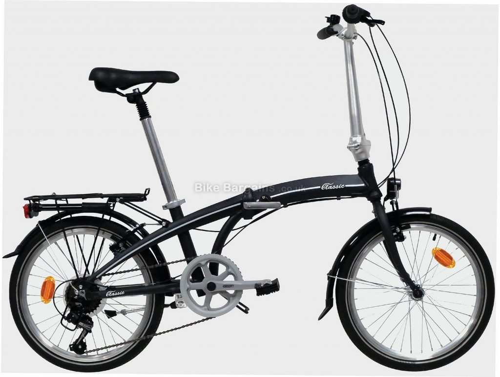 "Classic Alloy Folding City Bike M, Black, Alloy Frame, 7 Speed, 20"" Wheels, Caliper Brakes, Single Chainring"