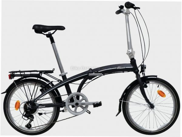 "Classic Alloy Folding City Bike M, Black, Alloy Frame, 7 Speed, 20"" Wheels, Caliper Brakes, Single Chainring"