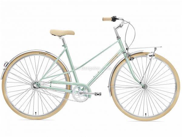 Creme Caferacer Lady Uno Ladies Steel Urban City Bike 2020 S, Green, Steel Frame, 3 Speed, 700c Wheels, Caliper Brakes, Nexus Drivetrain, Single Chainring, 14.8kg