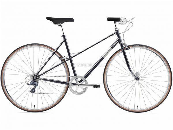 Creme Echo Mixte Uno Ladies Steel Urban City Bike 2020 S, Purple, Steel Frame, 8 Speed, 700c Wheels, Caliper Brakes, Claris Drivetrain, Single Chainring, 11kg