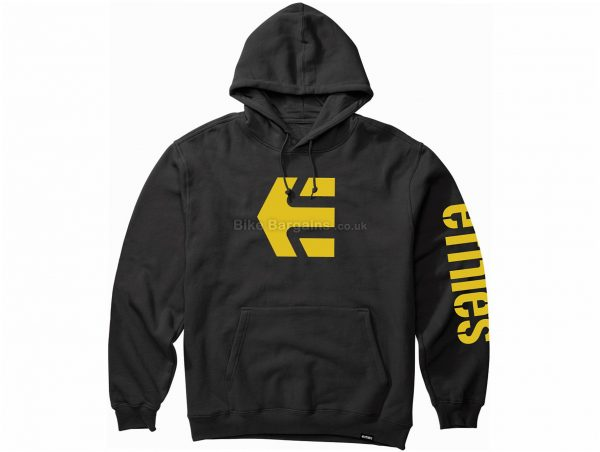 Etnies Icon Pullover Hoodie S, Grey, Black, Men's, Long Sleeve, Cotton, Polyester