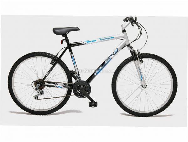 "Flite Gemini Steel City Bike 20"", Silver, Blue, Black, Steel Frame, 18 Speed, 26"" Wheels, 14.8kg, Caliper Brakes, Triple Chainring, Hardtail Frame, Front Suspension"