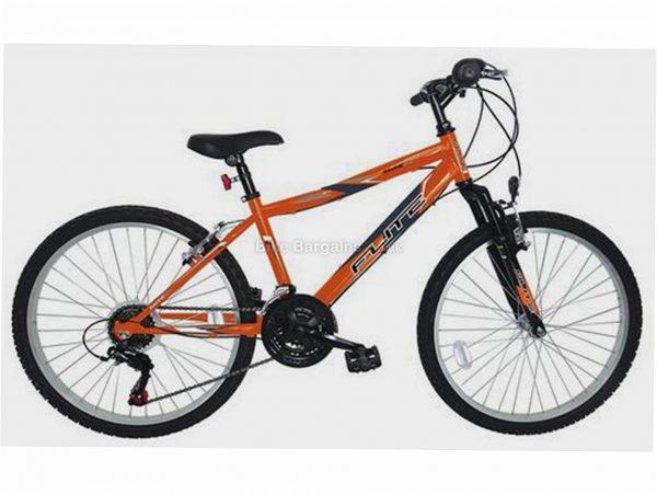"Flite Ravine Kids 24"" Alloy Mountain Bike M, Orange, Blue, Black, Steel Frame, 18 Speed, 24"" Wheels, Caliper Brakes, Triple Chainring, Hardtail Frame, Front Suspension"