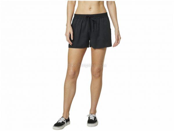 Fox Racing Barnett Woven Ladies Shorts XS, Black, Ladies, Baggy, Lyocell
