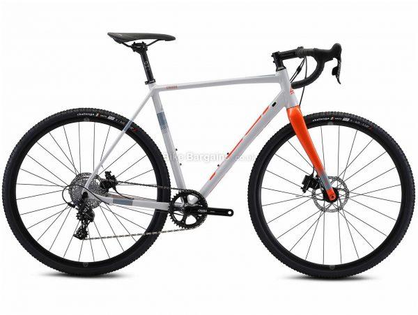 Fuji Cross 1.3 Carbon Cyclocross Bike 2021 52cm, Grey, Orange, Alloy Frame, 11 Speed, 700c Wheels, Disc Brakes, Apex Drivetrain, Single Chainring