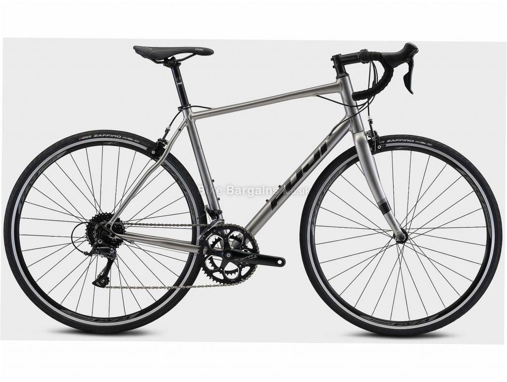 Fuji Sportif 2.1 Alloy Road Bike 2021 54cm, Silver, Black, Alloy Frame, 18 Speed, 700c Wheels, Caliper Brakes, Double Chainring