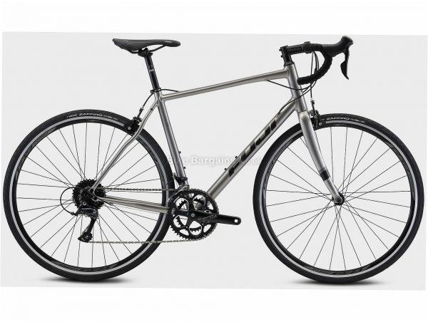 Fuji Sportif 2.1 Alloy Road Bike 2021 49cm,52cm,54cm,56cm,58cm,61cm, Silver, Black, Alloy Frame, 18 Speed, 700c Wheels, Caliper Brakes, Double Chainring
