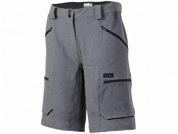 IXS Ladies Tema 6.1 Shorts XS, Grey, Ladies, Baggy, Polyester, Elastane