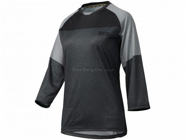 IXS Ladies Vibe 6.1 3/4 Sleeve Jersey XXL, Grey, Black, Ladies, 3/4 Sleeve, Polyester