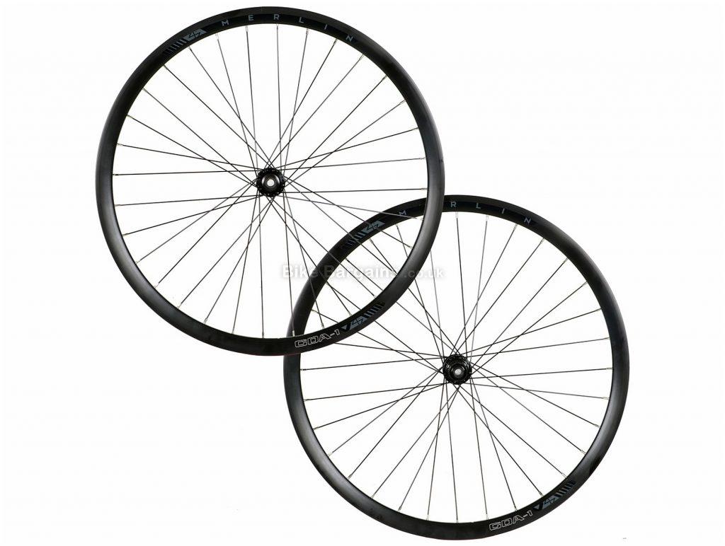 Merlin GDA-1 Disc Clincher Alloy Gravel Wheels 700c, 12mm, 142mm, Black, Disc, Shimano, 10 - 11 Speed, Front & Rear, Alloy Rims, 2.14kg