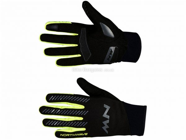 Northwave Core Gloves L, Black, Synthetic Leather, Silicone, Neoprene, Full Finger