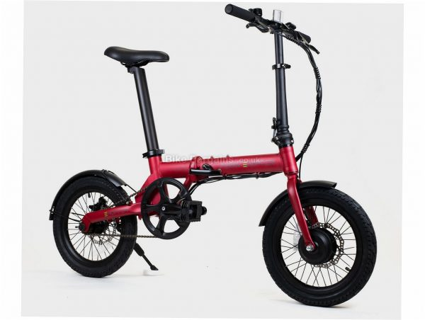 """Perry Ehopper 16"""" Folding Alloy Electric Bike M, Red, Black, Alloy Frame, Single Speed, 16"""" Wheels, 14kg, Disc, Single Chainring"""