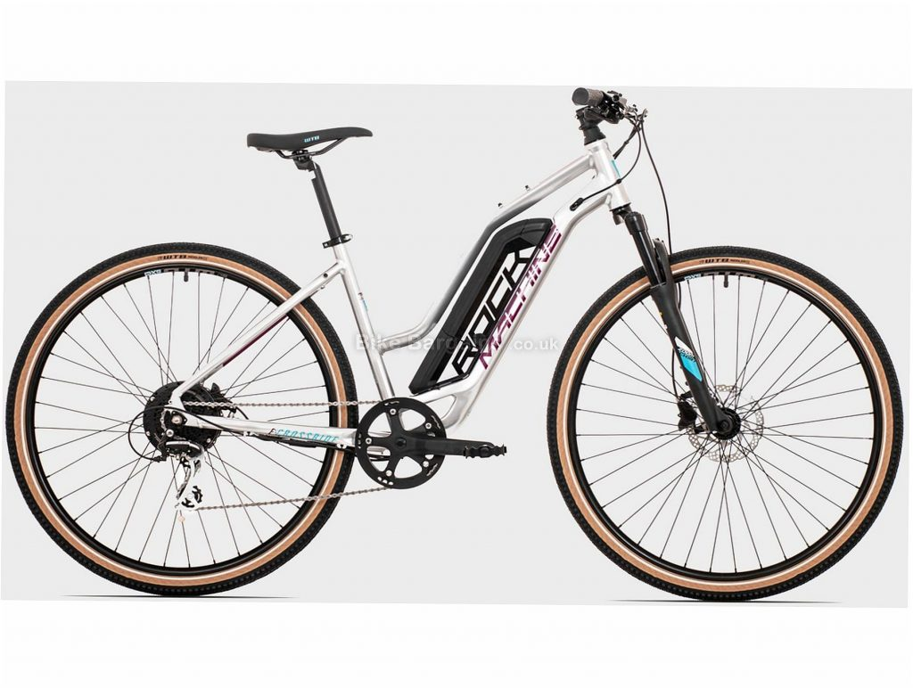 """Rock Machine Crossride E350 Lady Touring Ladies Alloy Electric Bike L, White, Black, Alloy Frame, 8 Speed, 29"""" Wheels, 20.7kg, Disc, Single Chainring, Hardtail Frame, Front Suspension"""