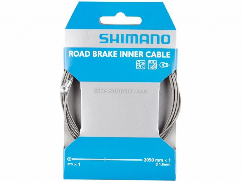 Shimano Stainless Road Brake Inner Cable 205cm, Silver