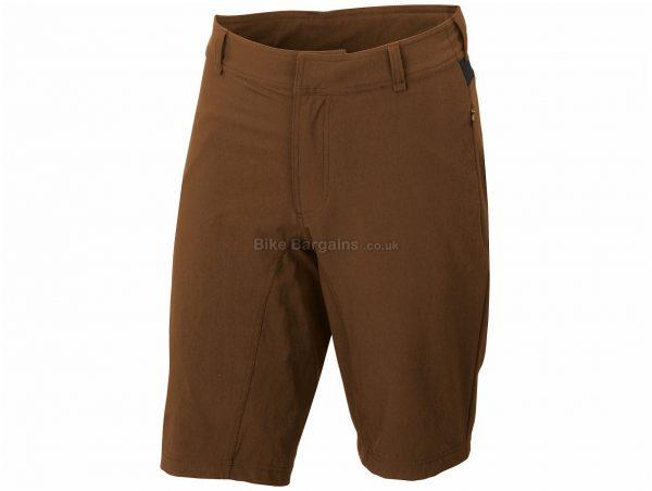 Sportful Giara Over Shorts XXL, Green, Brown, Men's, Baggy, Polyester, Polyamide, Elastane