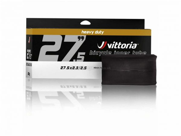 "Vittoria Heavy Duty MTB Inner Tube 26"", 2.3"",2.5"", Black, Schrader, Presta, Butyl"