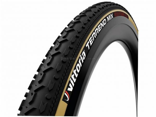 Vittoria Terreno Mix G2.0 Tubular Gravel Tyre 700c, 31c, Black, Brown, Tubular, 440g, Rubber