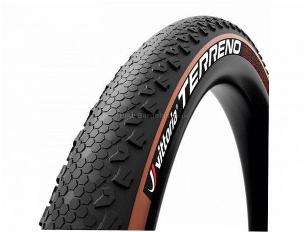 "Vittoria Terreno TLR G2.0 Folding MTB Tyre 29"", 2.25"", Black, Brown, Folding, 650g, Rubber, Kevlar"