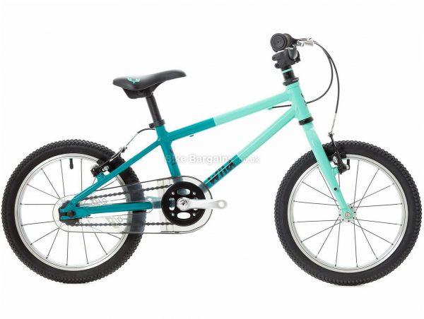 "Wild Bikes Wild 16 Alloy Kids Bike M, Turquoise, Green, Alloy Frame, Single Speed, 16"" Wheels, 6.3kg, Caliper Brakes, Single Chainring"