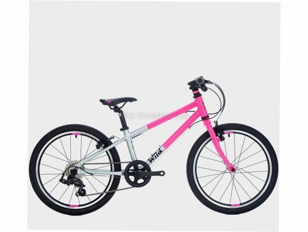 "Wild Bikes Wild 20 Alloy Kids Bike M, Pink, Silver, Alloy Frame, 7 Speed, 20"" Wheels, 7.6kg, Caliper Brakes, Single Chainring"