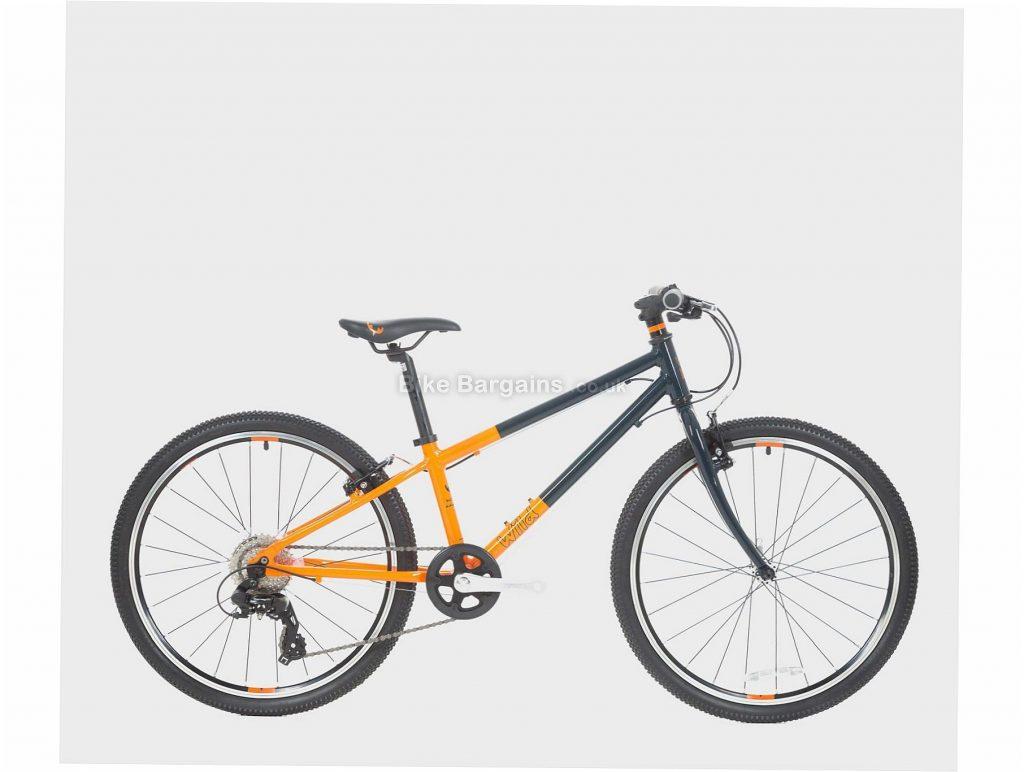 "Wild Bikes Wild 24 Alloy Kids Bike M, Green, Orange, Alloy Frame, 8 Speed, 24"" Wheels, 8.9kg, Caliper Brakes, Single Chainring"