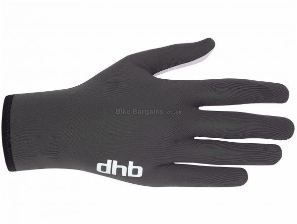 dhb Liner Full Finger Gloves S,M,L, Black, Unisex, Full Finger, Polyester, Elastane