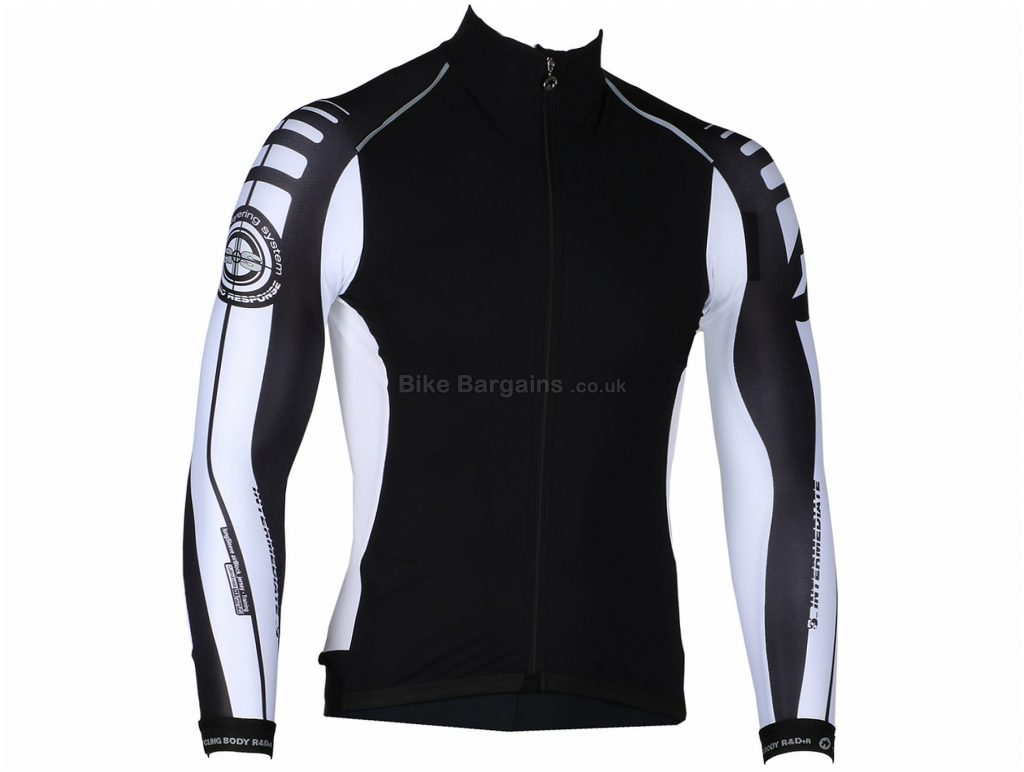 Assos IJ Intermediate S7 Ladies Long Sleeve Jersey L,XL, Black, White, Long Sleeve, 3 rear pockets, Zip