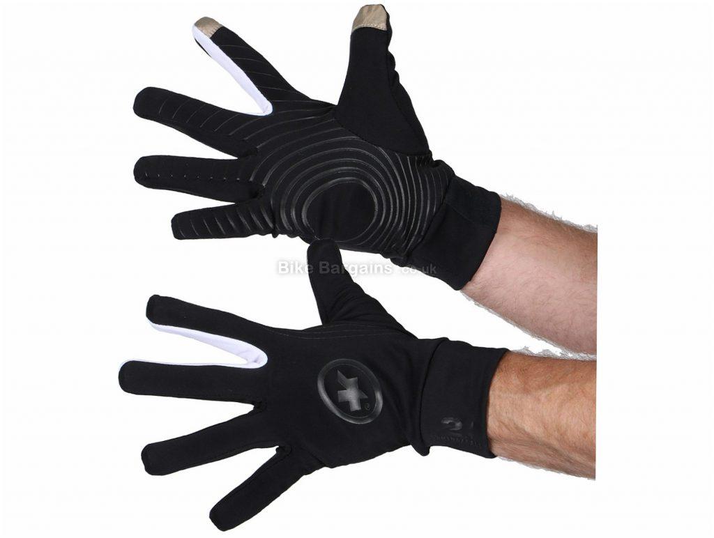 Assos Tiburu Evo 7 Gloves XL, Black, Full Finger