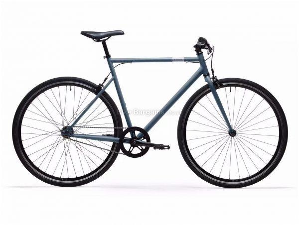 B'Twin Elops 500 Single Speed Steel City Bike M,L, Blue, Orange, Steel Frame, 1 Speed, 700c Wheels, Single Chainring, Caliper Brakes