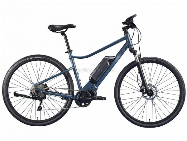 B'Twin Riverside 540 E Alloy Hybrid Electric Bike S,M,L,XL, Blue, Black, Deore Groupset, Alloy Frame, 10 Speed, 700c Wheels, Single Chainring, Disc, Hardtail, 21kg