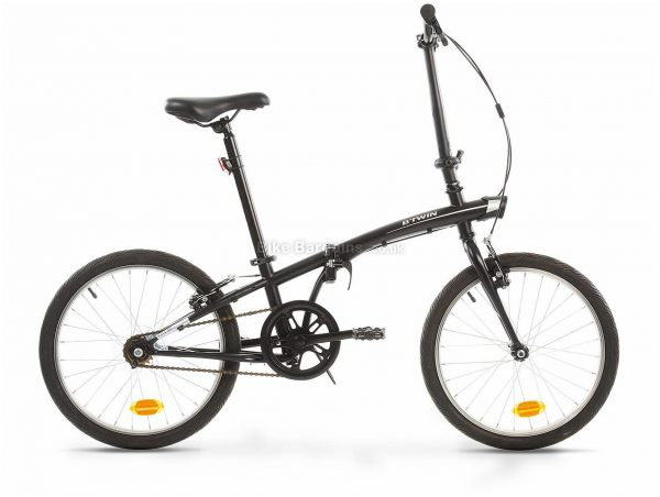 """B'Twin Tilt 100 Steel Folding City Bike M, Grey, Steel Frame, 1 Speed, 20"""" Wheels, Single Chainring, Caliper Brakes"""